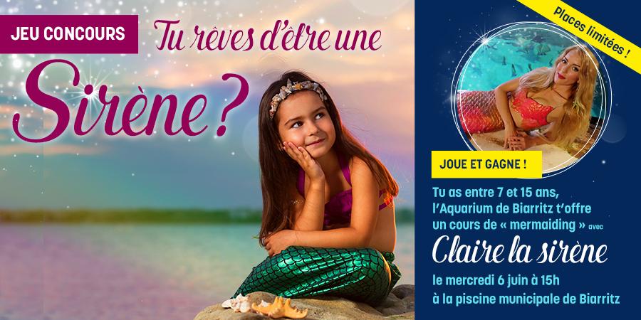 """L'Aquarium de Biarritz offre un cours de """"mermaiding"""" avec Claire la sirène"""