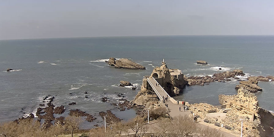 Webcam live : the Virgin's Rock in Biarritz